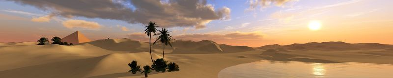 Free Oasis In The Desert Royalty Free Stock Photo - 114645755