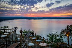 Lake Travis Sunset stock photography