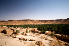 Oasis in the mountains. Oasis in the Middle Atlas Mountains, Morocco Royalty Free Stock Photo