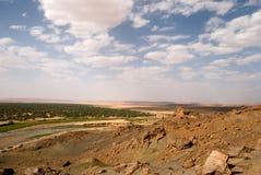 Oasis near Sahara. Oasis at the border of Sahara, Morocco Royalty Free Stock Photos