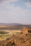 Oasis near Sahara. Oasis at the border of Sahara, Morocco Stock Photos