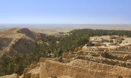 An oasis in the Sahara desert. Stock Photo