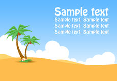 Oasis. Sample text Royalty Free Stock Image
