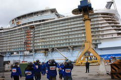 Oasis of the Seas construction Stock Image
