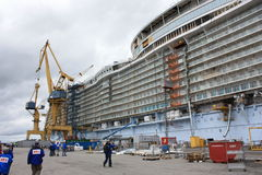 Oasis of the Seas construction Stock Photography