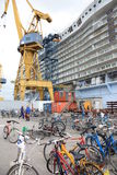 Oasis of the Seas construction Stock Photos