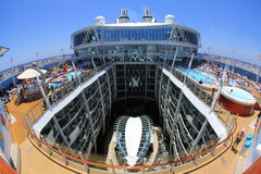 Oasis Of The Seas. FORT LAUDERDALE, USA, MAY 11: Royal Caribbean, Oasis of the Seas sailing from Fort Lauderdale, USA on May 11 2011. The second largest Royalty Free Stock Photo