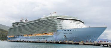 Oasis Of The Seas. Labadee, Haiti, May 4, 2011: Royal Caribbean, Oasis of the Seas docked in Labadee, Haiti on May 4 2011. The second largest passenger ship ever Stock Image