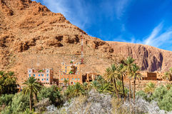 Oasis of the Todra River at Tinghir, Morocco. Oasis of the Todra River at Tinghir in Morocco Stock Image