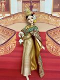 oasisdoll, ball joint doll, Thai dance , YAOYUE,steering wheel royalty free stock image