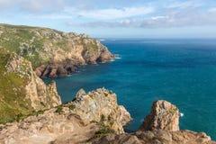 Oast ¡ Ð Португалии взгляд сверху Atlantic Ocean стоковое фото rf