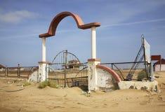 Oast ¡ Ð Каспийского моря в Mardakan пустословия стоковое изображение