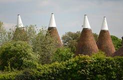 Oast στέγες σπιτιών Στοκ Φωτογραφία