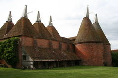 Oast House 1. Old Kentish Oasthouse from the front Stock Image