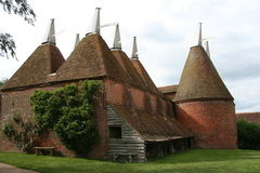 Oast House 2. Old Kentish Oasthouse from the side Stock Photo