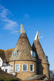 Oast house in the sunshine Royalty Free Stock Photo
