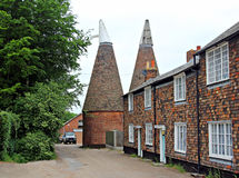 Oast houses and cottages Stock Image