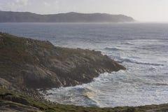 Coast in Punta Nariga Malpica, La coruna - Spain. Oast of Punta Nariga Malpica, La Coruna - Spain Royalty Free Stock Photo