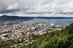 Сoastal city Bergen in Norway. Stock Photo