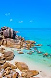 Oastal Klippen und azurblaues Meer im KOH Samui, Thailand Stockfotos