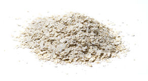 Oat. Pile of oat on white background Stock Photo