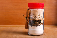 Free Oat And Raisin Cookie Kit In A Jar, Royalty Free Stock Images - 67307859