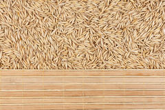 Oat and bamboo mat Stock Photo