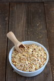 Oat, barley and wheat flakes Royalty Free Stock Images