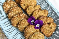 Oat biscuits Stock Image