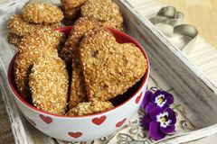 Oat biscuits Royalty Free Stock Images