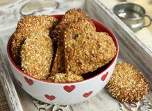 Oat biscuits Royalty Free Stock Photos