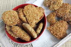 Oat biscuits. Stock Images