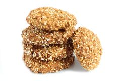 Oat biscuits. Royalty Free Stock Images