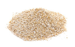 Oat bran. On white background Stock Images