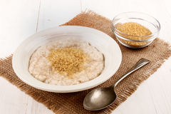Oat bran with brown sugar Stock Photos