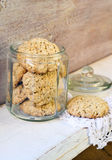 Oat and bran cookies Stock Photos