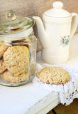 Oat and bran cookies Stock Photo