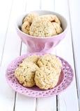 Oat bran cookies Royalty Free Stock Photos