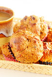 Oat bran muffins Stock Images