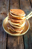 Oat bran pancakes Stock Images