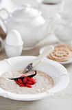 Oat bran porridge Stock Photo