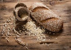 Oat bread and cereals Royalty Free Stock Photos