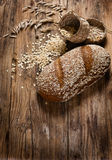 Oat bread with rolled oats Royalty Free Stock Images