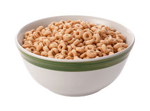 Oat Cereal Isolated with clipping path. On a white background. Isolation is on a transparent layer in the PNG format royalty free stock photos
