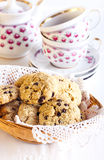 Oat and chocolate chip cookies Stock Photo