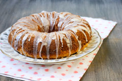 Oat and coconut bundt cake Stock Images