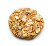 Oat cookie. Organic oat cookie isolated on white background Royalty Free Stock Photography