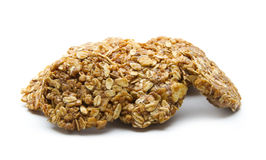 Oat cookies. Organic oat cookies isolated on white background Royalty Free Stock Photography
