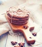 Oat cookies with chokolate Royalty Free Stock Photos