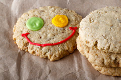 Oat cookies on craft paper Stock Photography